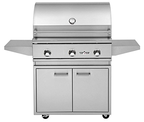 Delta Heat Freestanding Gas Grill with Infrared Sear Zone (DHBQ32G-D-N-DHGB32-C-DHSZ-KIT-B), 32-Inches, Natural Gas