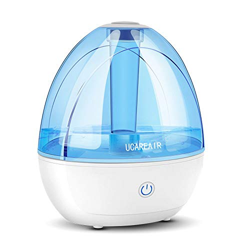 Cool Mist Humidifier - Humidifier for Baby Bedroom, Super Quiet Mist Humidifier with High Low Mist, Waterless Auto-off, Night Light, 2L Capacity, Filterless Humidifiers for home office, ETL Approved