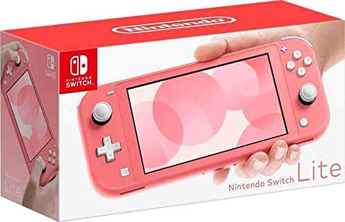 Newest Nintendo Switch Lite Game Console, Coral Pink with 128GB AllyFlex Micro SD Card
