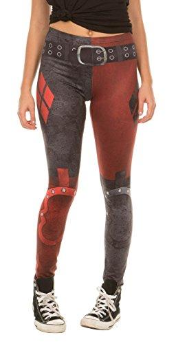 Dc Comics Harley Quinn Arkham City Leggings (Adult Small)