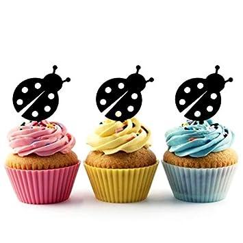 Innovedesire Ladybug Cupcake Cake Topper para Tartas ...