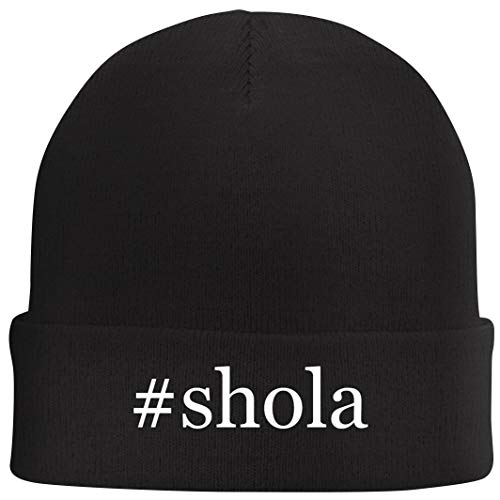 Tracy Gifts #Shola - Hashtag Beanie Skull Cap with Fleece Liner, Black, One Size