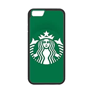 Popular And Durable Designed TPU Case with Starbucks Starbucks iPhone 6 4.7 Inch Cell Phone Case Black