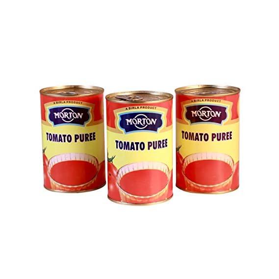 Morton Tomato Puree, 450 g (Pack of 3)