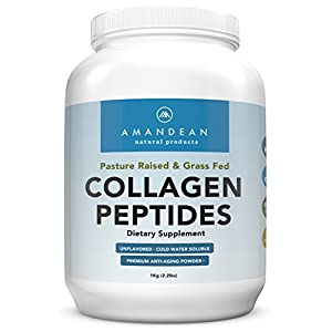 Hydrolyzed Collagen Peptides Powder (XL 2.2lbs) | Grass Fed Collagen Protein | Paleo & Keto Friendly | Pure Collagen Hydrolysate for Anti-Aging | Unflavored, 18 Amino Acids for Hair, Skin, Joints, Gut