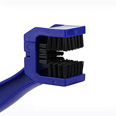 Chain Cleaner Brush, Motorcycle Bike Chain Maintenance Cleaning Brush,Motorcycle Bike Chain Cleaner Cleaning Brush Cycle Brake Dirt Remover Tool Blue: Automotive