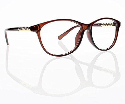 Women Classic Oversize Rhinestone Reader Reading Glasses +1.0 +2.0 +3.0 +4.0 New (Brown, +2.50) (Glasses Reading Brown Rhinestone)