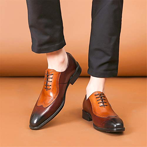 FELIX CHU Mens Genuine Leather Dress Shoes Oxfords Formal Wedding Lace up  Italian Leather Shoes for c37863722787