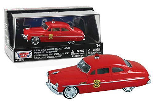 Motormax 1949 Mercury Coupe Fire Chief, 1:43 Scale