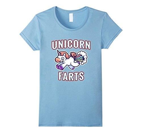 Women's Unicorn Farts Create Rainbows Funny Fantasy T Shi...