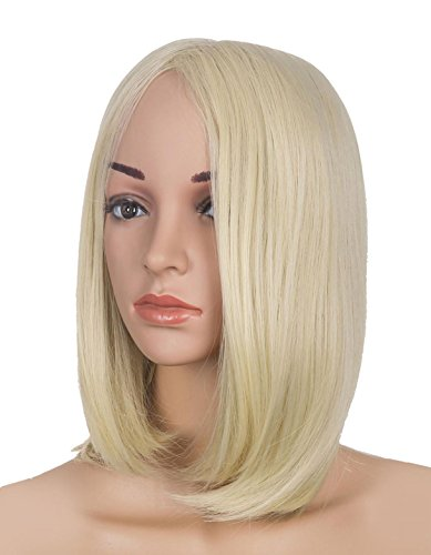 LOUISE MAELYS Straight Blonde Bob Wig for Women