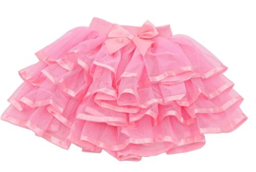 (Tortoise & Rabbit Little Girls and Big Girls Tulle Tutu Skirt (4T-S(4), Pink))