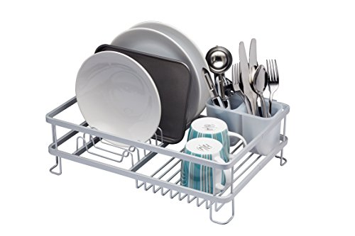 Stainless-Steel kitchen Craft Chrome Plated Dish Drainer Silver 42 cm x 30.5 cm x 15.5 cm