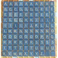 Kids Mandi 100 Plastic Scrabble Letter Tiles (Blue and White)