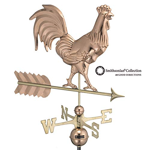 (Good Directions Smithsonian Rooster Weathervane, Pure Copper)
