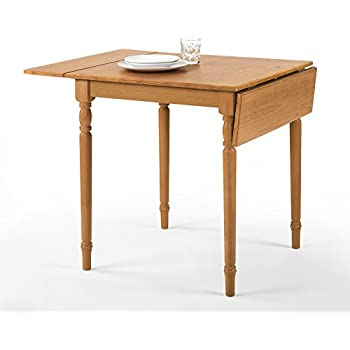 Zinus Provence Drop Leaf Wood Dining Table / Turned Legs / Natural