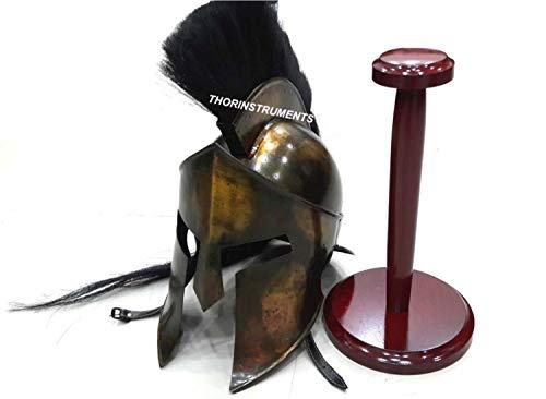 300 Armor King Leonidas Spartan Helmet Replica with Stand Free Halloween Costume ()