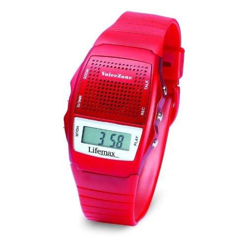 Lifemax 428RED - Reloj digital unisex de plástico rojo: Amazon.es: Relojes