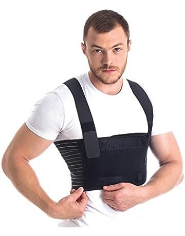 Ortopédica masculino costilla de la correa/soporte del pecho masculino - elástico y transpirable Brace