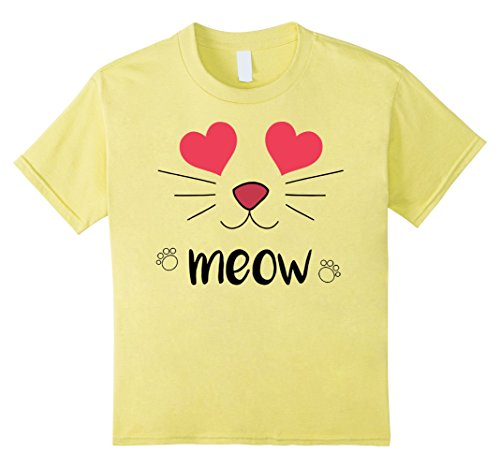 Kids Emoji Halloween Costume - Smiling Cat Heart Eyes Smile Emoji 10 Lemon