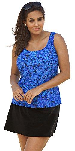 Beach Belle Women's Plus Size Cerulean Skirtini Blue 34