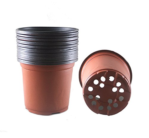 6 Inch Plastic Flower Seedlings Nursery Supplies Planter Pot/pots Containers,40 Pack
