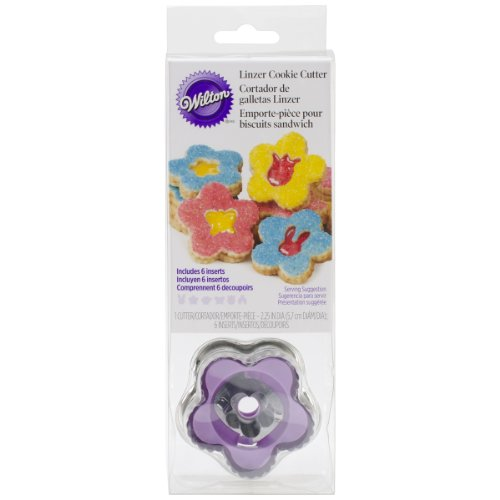 Wilton 2308-0345 Linzer Cookie Cutters, Set of 6