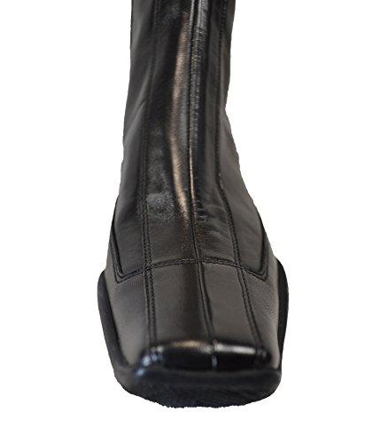 Prada Sport Tronchetto tacco pelle nera (40)