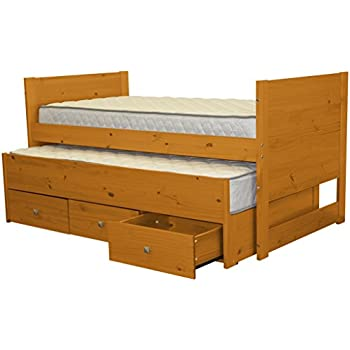 Amazon Com Bedz King Captains Twin Bed With Twin Trundle