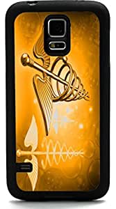 Rikki KnightTM Orange Medical Doctor Symbol Design Samsung? Galaxy S5 Case Cover (Black Rubber with front Bumper Protection) for Samsung Galaxy S5 i9600