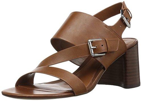 Lauren Ralph Lauren Women's Florin Heeled Sandal, Tan, 8 B US
