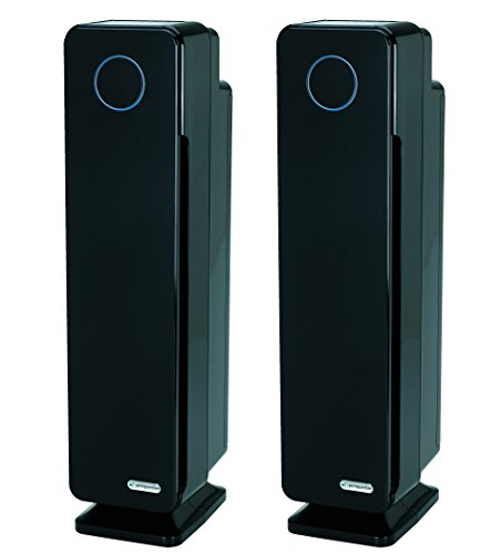 Guardian Technologies AC5350B2PK GermGuardian AC5350 28 3 in 1 Large Room Air Purifier, Black 2 Pack