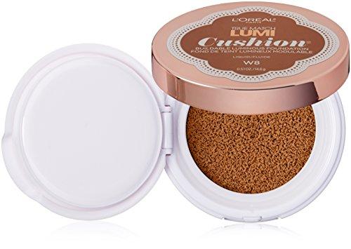 L'Oréal Paris True Match Lumi Cushion Foundation, W8 Creme Cafe, 0.51 oz. (Best Cushion Foundation Review)