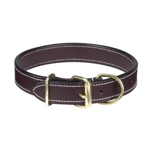 Casual Canine Flat Leather Dog Collar, 18-22-Inch, Brown, My Pet Supplies