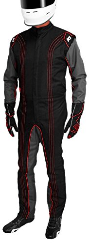 10-GK2-B-L Blue, Large K1 Race Gear CIK//FIA Level 2 Approved Kart Racing Suit