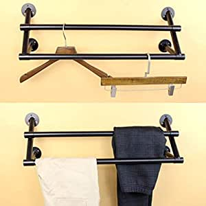 Amazon.com: PLLP - Perchero de pared para colgar ropa ...