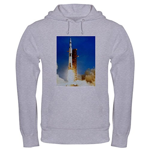 CafePress Saturn V Launch - Pullover Hoodie, Classic & Comfortable Hooded Sweatshirt (Insulated Jacket Launch)