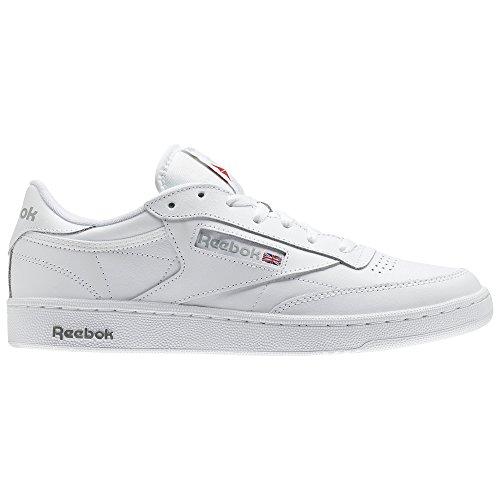 - Reebok Men's Club C 85 Walking Shoe, White/Sheer Grey, 9.5 M US