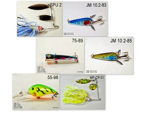 Akuna [NY] Pros' pick recommendation collection of lures for Bass, Panfish, Trout, Pike and Walleye fishing in New York(Bass 6-A) (Best Pike Fishing In New York)