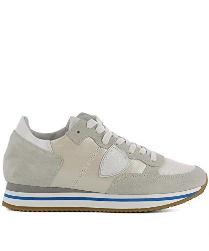 Philippe Model Women's THLDPE03 Beige Leather Sneakers RKQaKehG