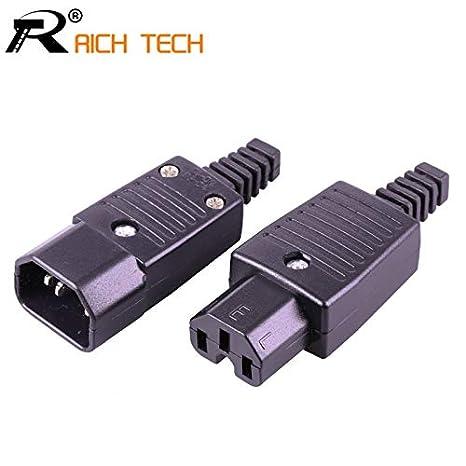 Davitu 10Sets 220V AC power jack&plug terminal 3pin AC/DC ... on