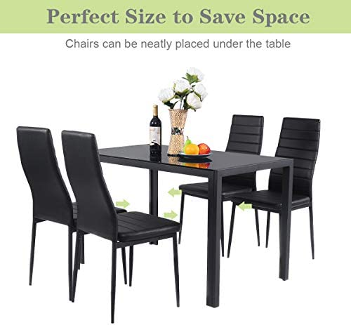 home, kitchen, furniture, kitchen, dining room furniture,  table, chair sets 11 discount Giantex 5 Piece Kitchen Dining Table Set with deals