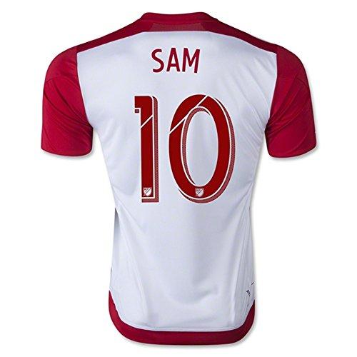 考案する芝生スロベニアAdidas SAM #10 New York Red Bulls Home Jersey 2016 (Authentic name & number) / サッカーユニフォーム ニューヨーク?レッドブルズ ホーム用 SAM