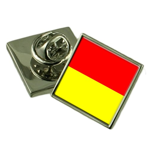 Pretoria City South Africa Flag Lapel Pin Engraved Box by Select Gifts