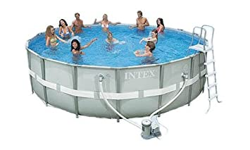 intex ultra frame round pool set