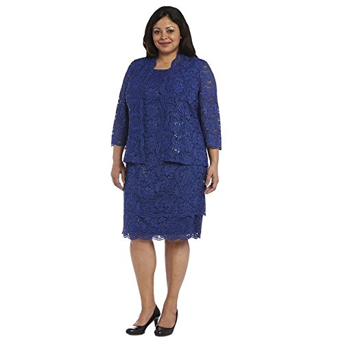 R&M Richards Lace Short Mother of The Bride Dress Formal with Jacket