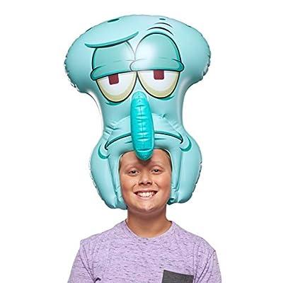 "SpongeBob SquarePants, Spongeheads, +20"" Tall Inflatable Wearable, Squidward, Blue: Toys & Games"