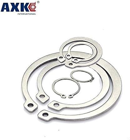 Ochoos M11 M14 304 Stainless Steel 304SS DIN472 Spring Washer C Type Snap Retaining Ring for OD 11mm 14mm Internal Bore Shaft Circlip Inner Diameter: 50Pcs M14
