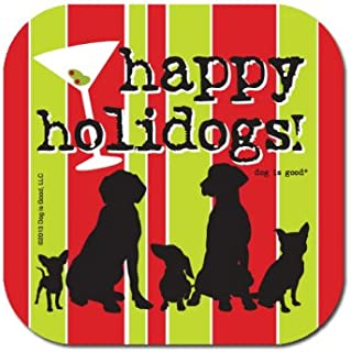 product image for HIGH COTTON Happy Holidogs Drink Caasters - Set of 2