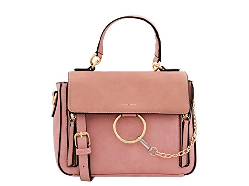 Pink LeahWard Bags Leather Holiday Women's Bags Body Faux Cross Messenger wvfq1wz
